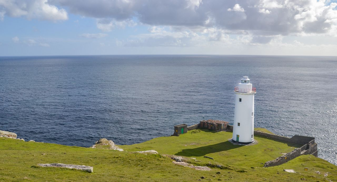 Irish Lighthouse on Bere Island in County Cork
