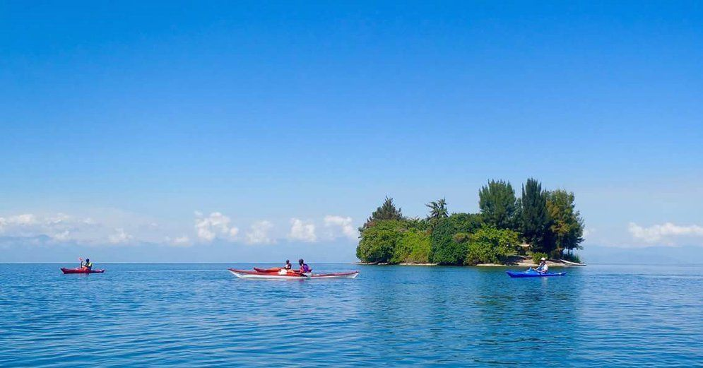 Kayaking in Kivu Lake