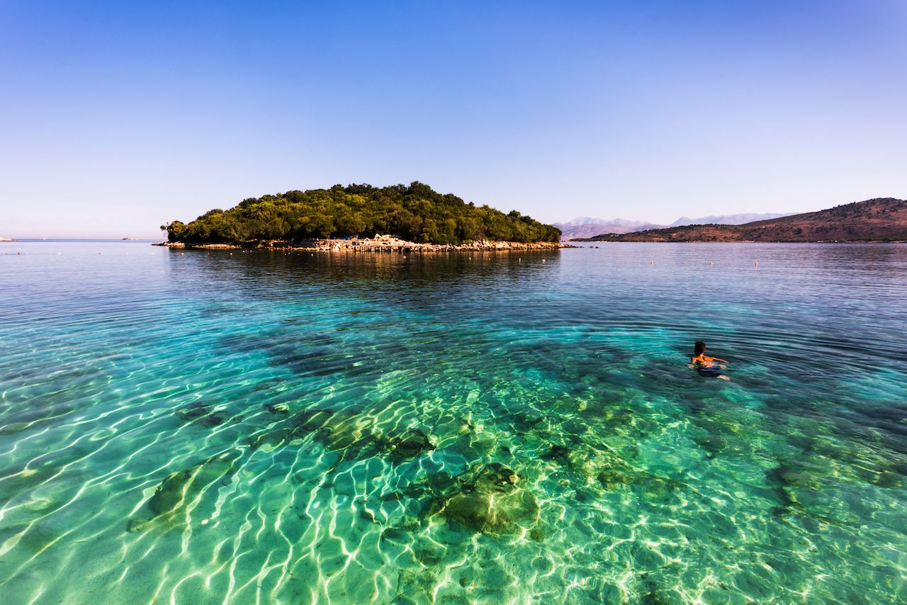 Ksamil beach in Albania