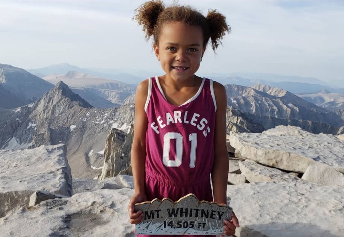 Six-year-old summits highest peak in the contiguous US