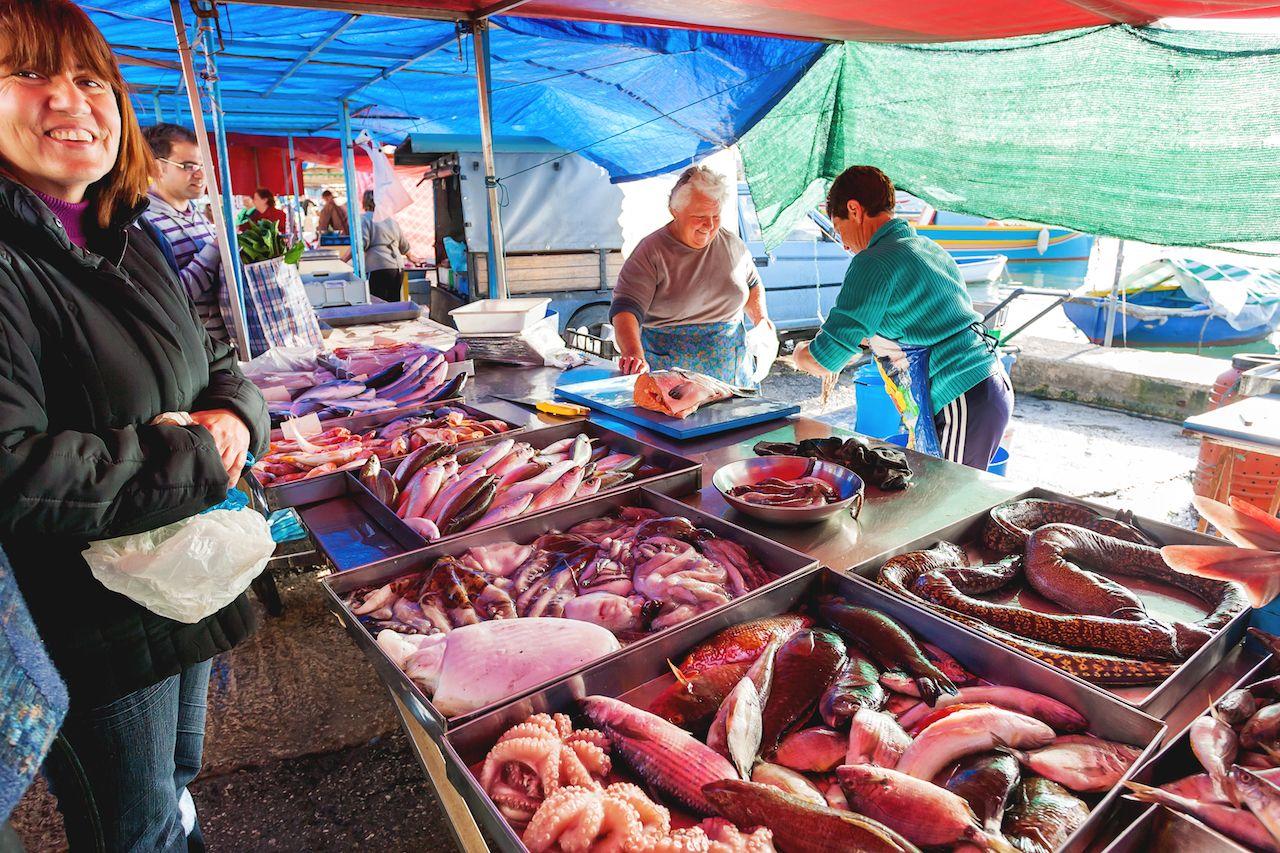 Street food in MARSAXLOKK, MALTA