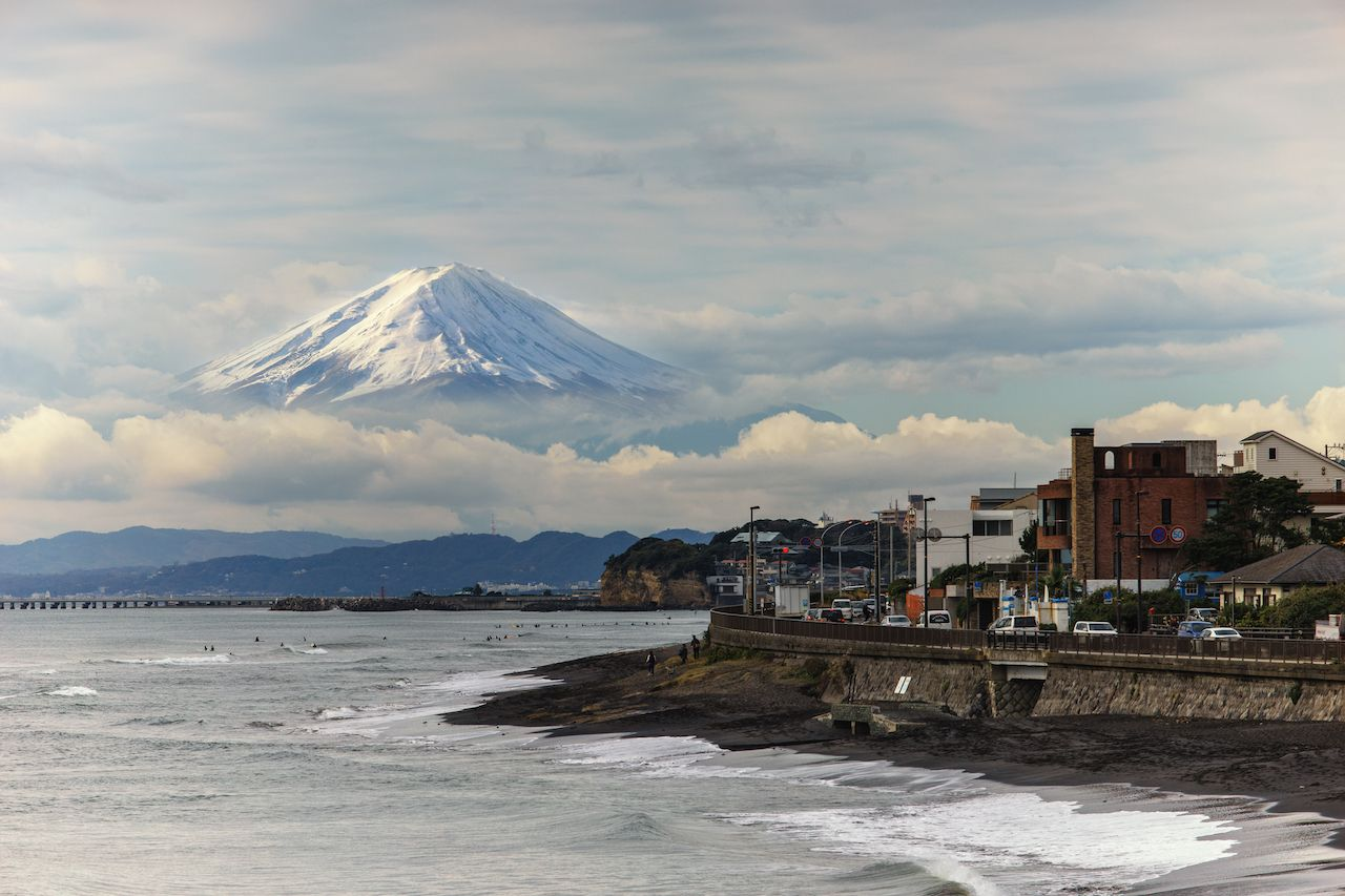 Mount Fuji from Kamakura and Tokyo Bay