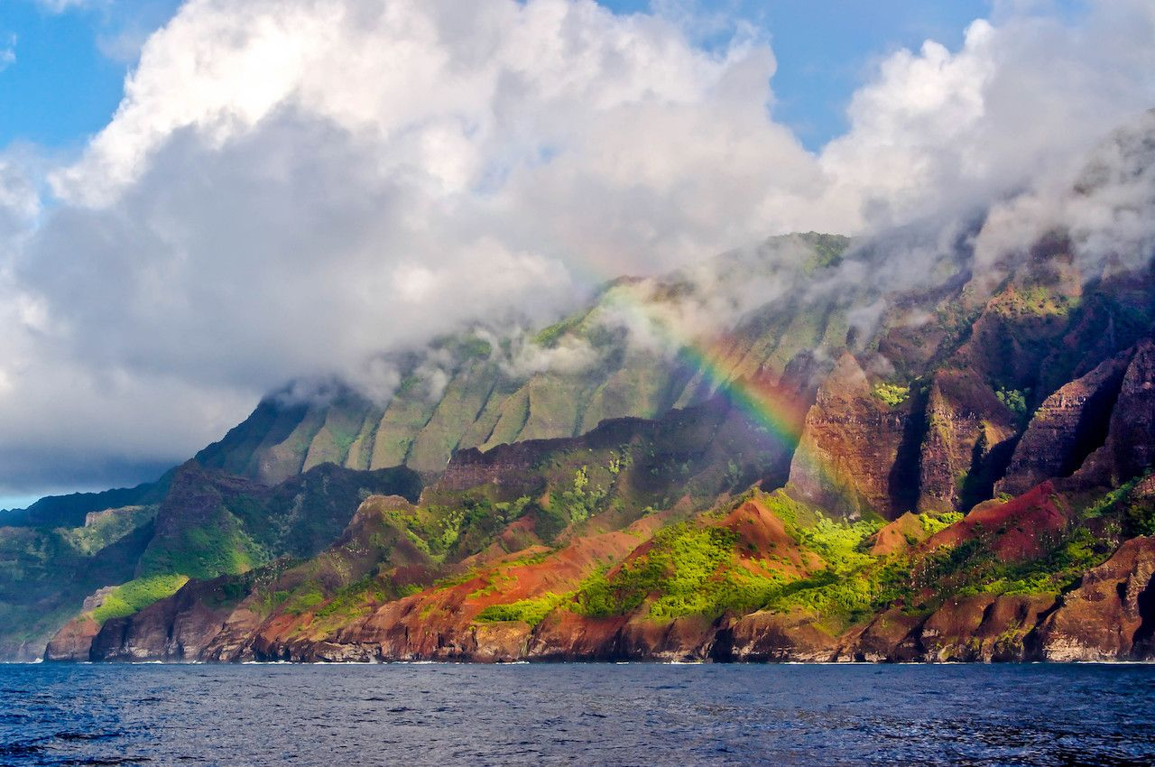 Na Pali coast rainbow