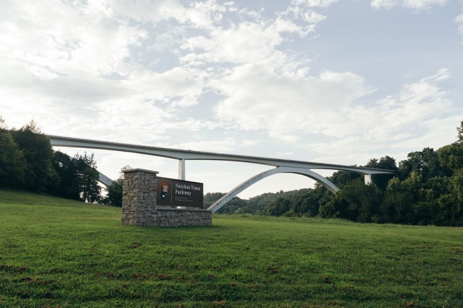 Natchez Trace Parkway bridge Franklin Tennessee