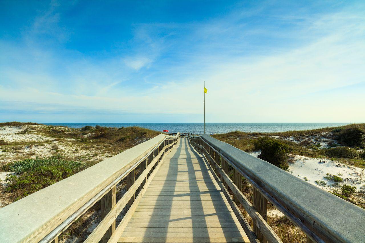 North Florida Panhandle Beach boardwalk