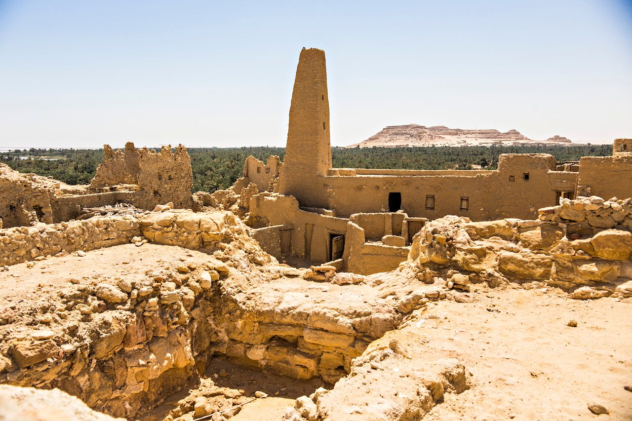 Oracle temple or Amun Revelation Temple at Siwa oasis