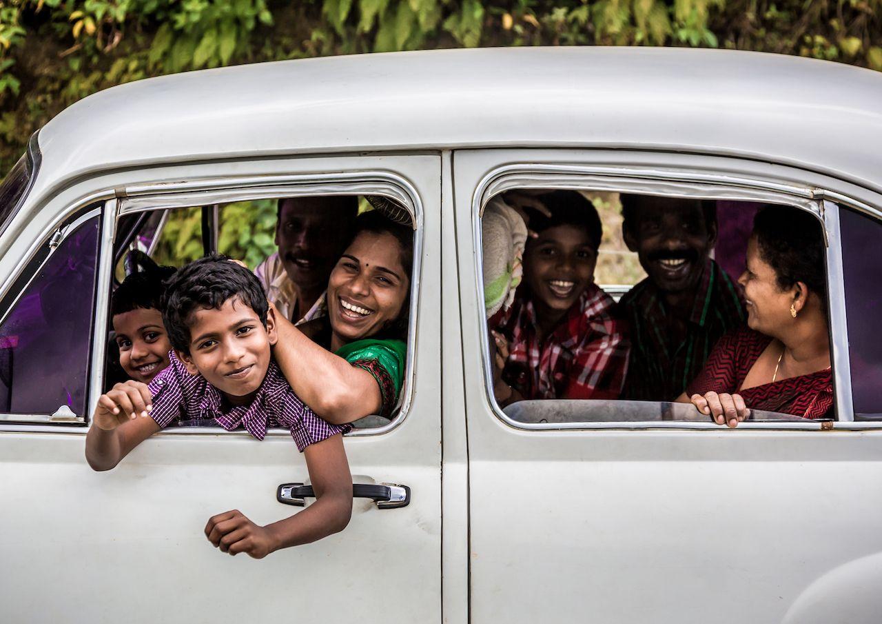 Packed car in Kerala