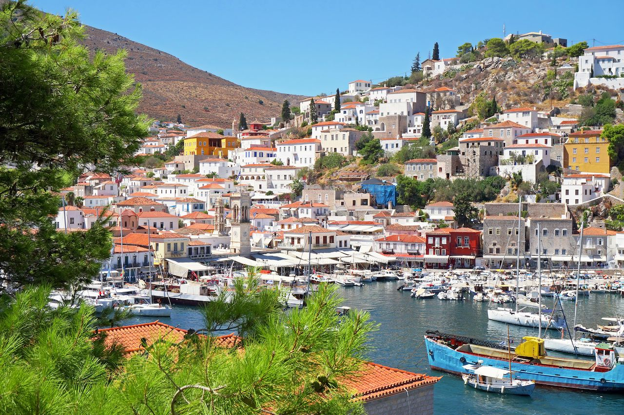 Port Town of Hydra Island in Greece
