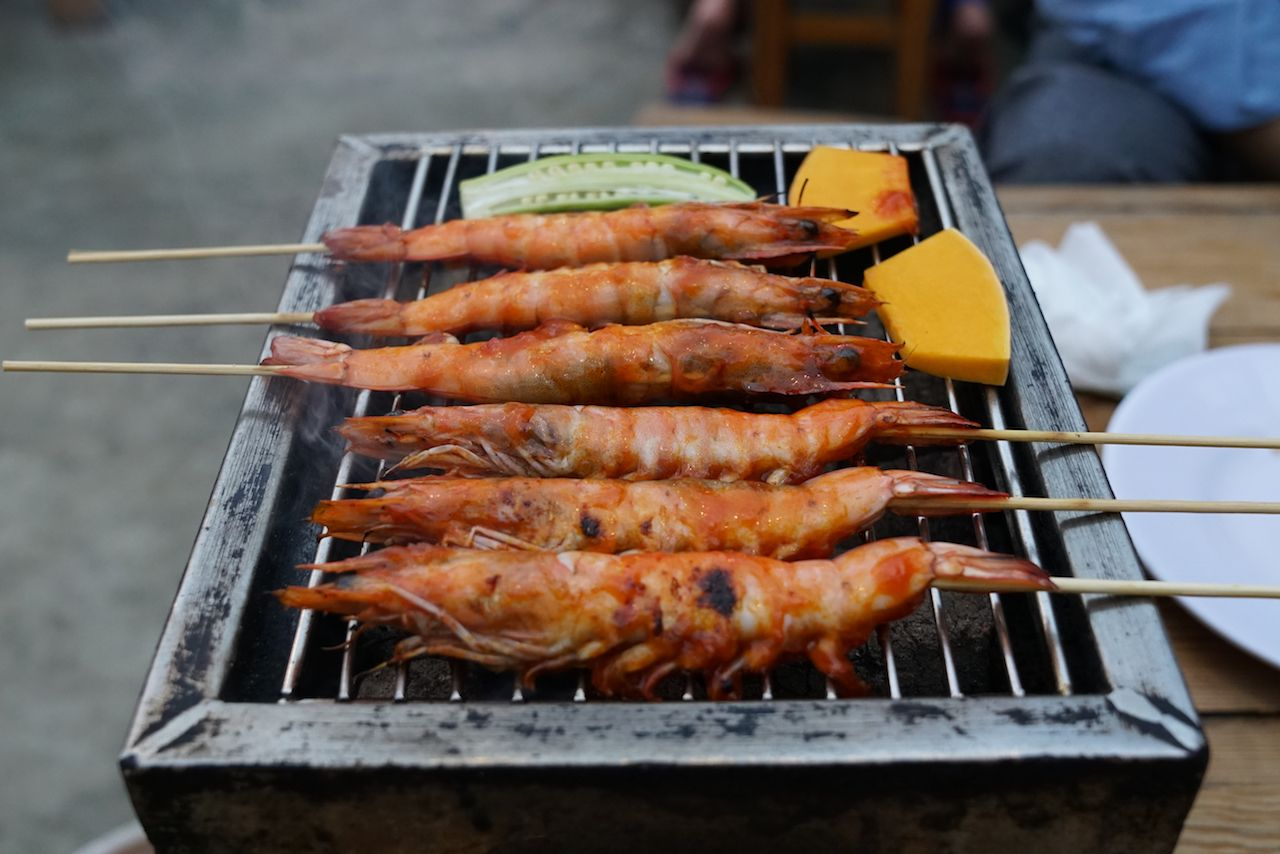 Shrimp BBQ in Da Nang, Vietnam