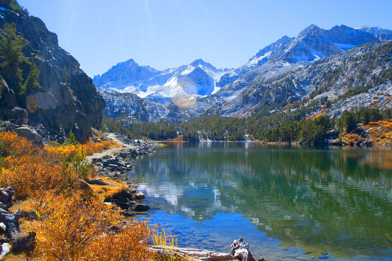 Sierra Mountains and lake
