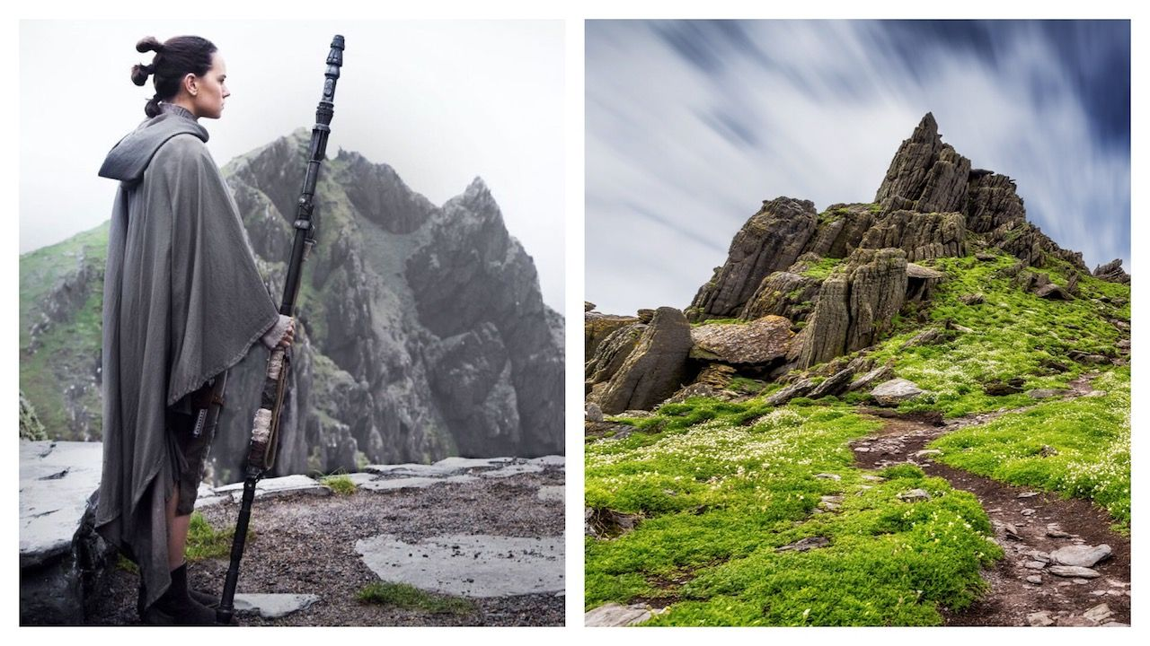 Skellig Michael and Star Wars shot