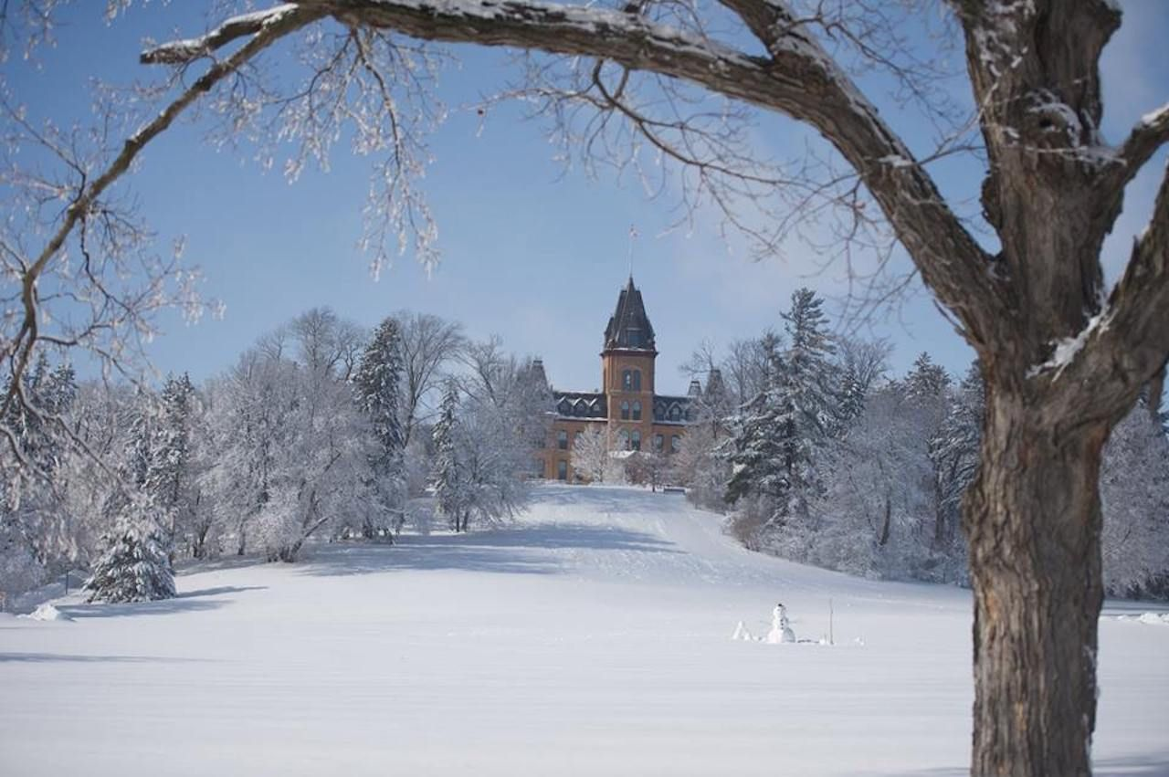 St. Olaf College blanketed in snow