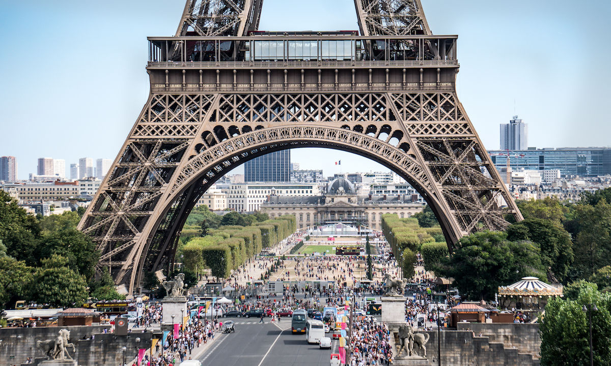 Eiffel Tower forced to close temporarily after a man attempts to scale it