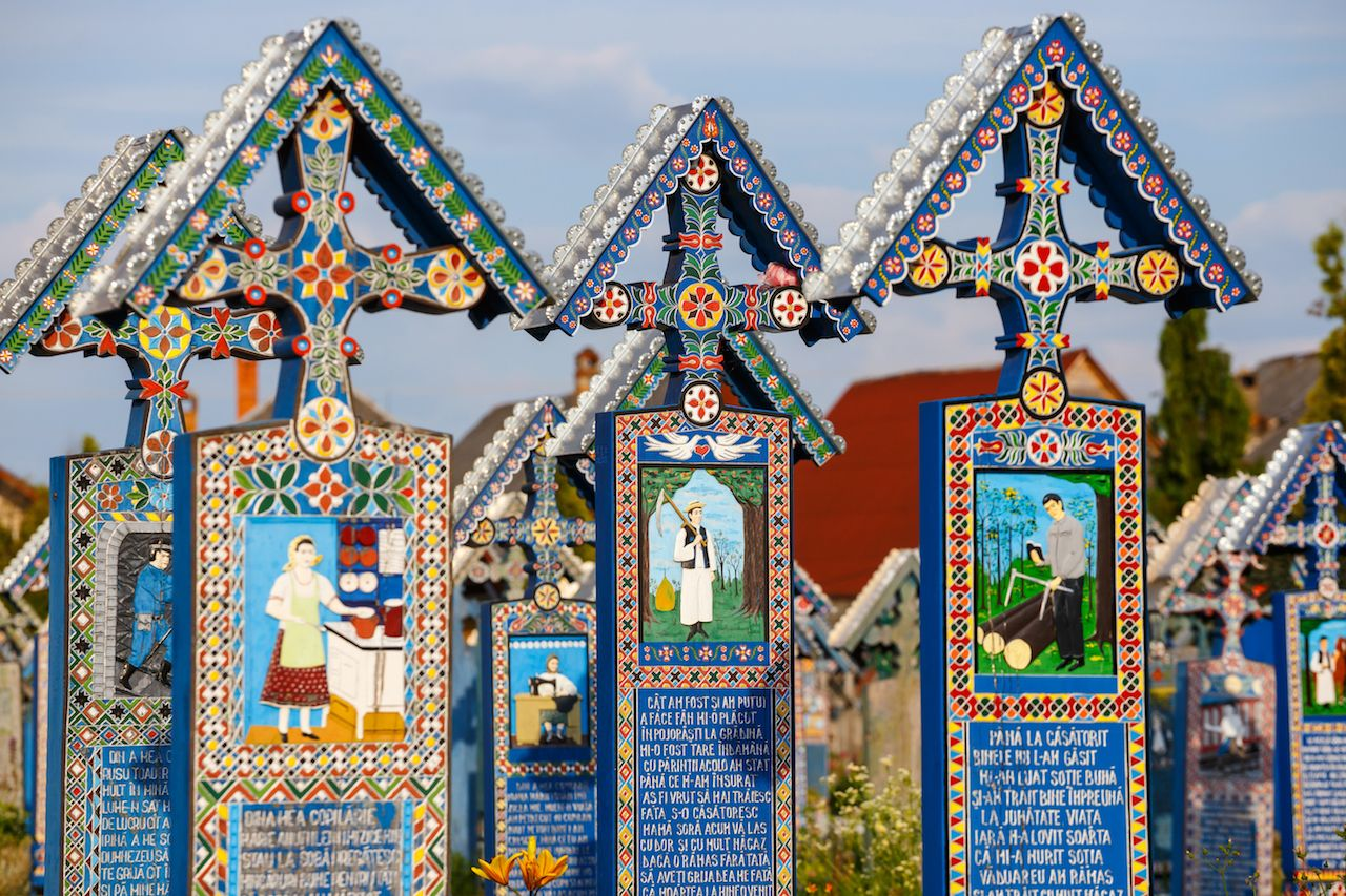 The merry cemetery in Romania