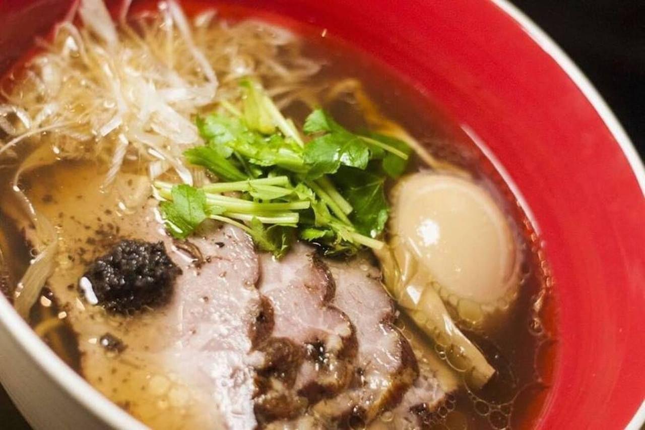Ramen bowl from Tsuta Singapore