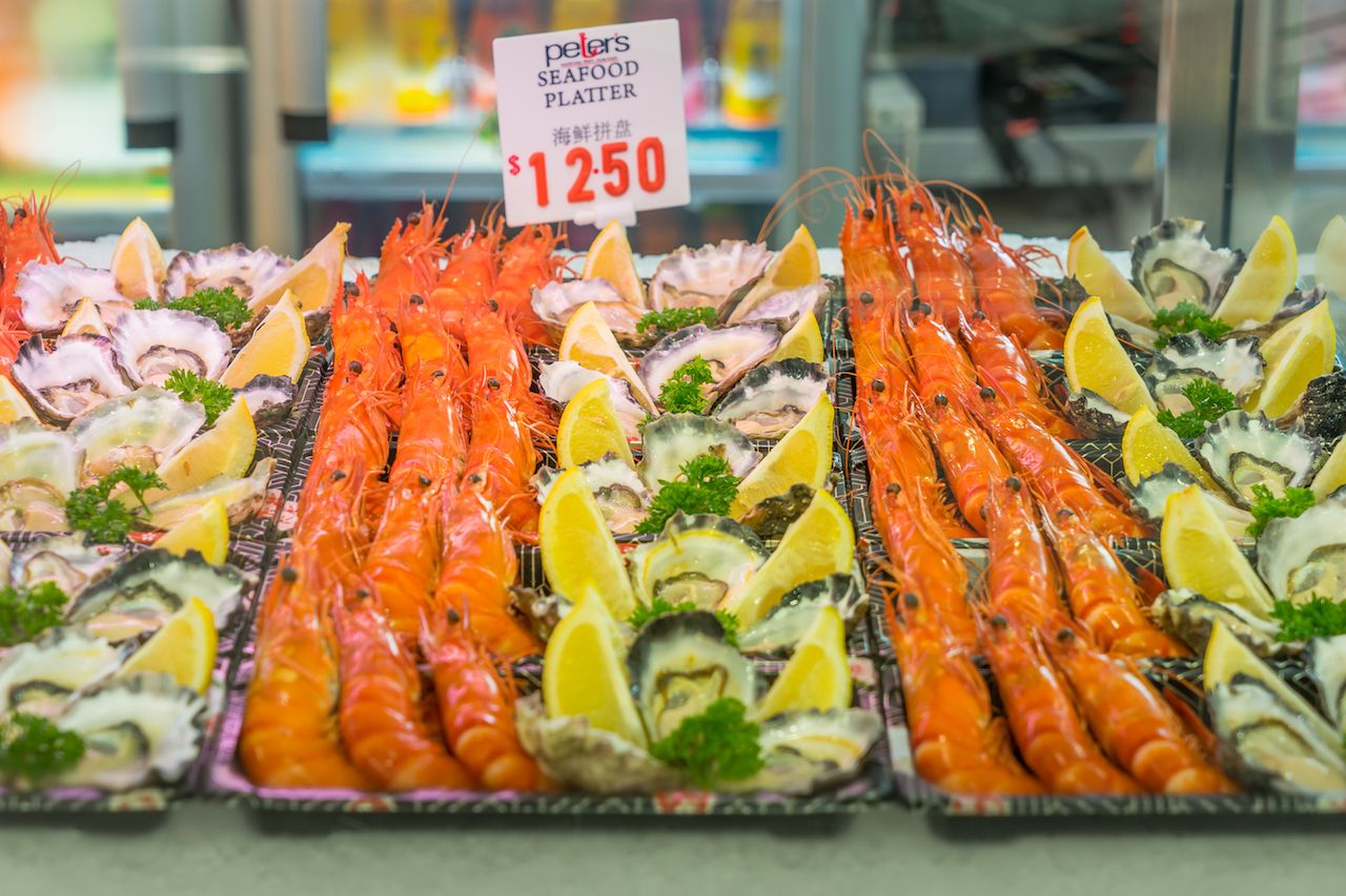 Various seafood in Sydney Fish Market, Sydney