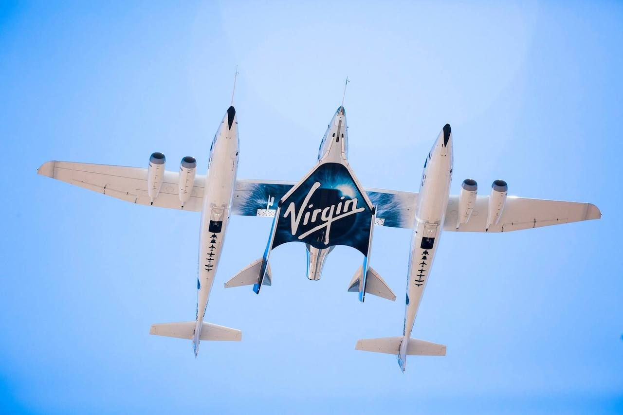 Virgin Galactic plane
