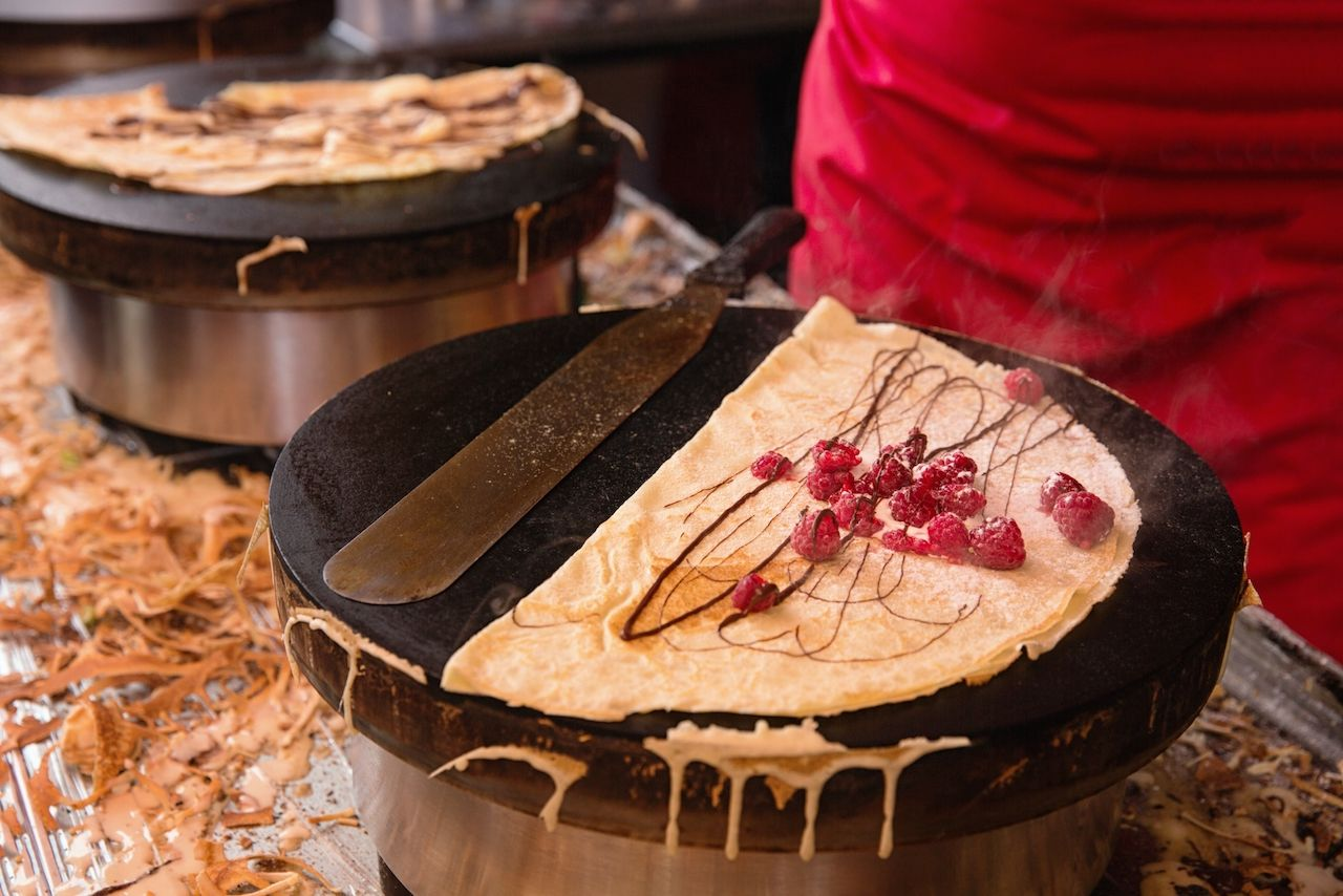 pancake made by a Paris street vendor