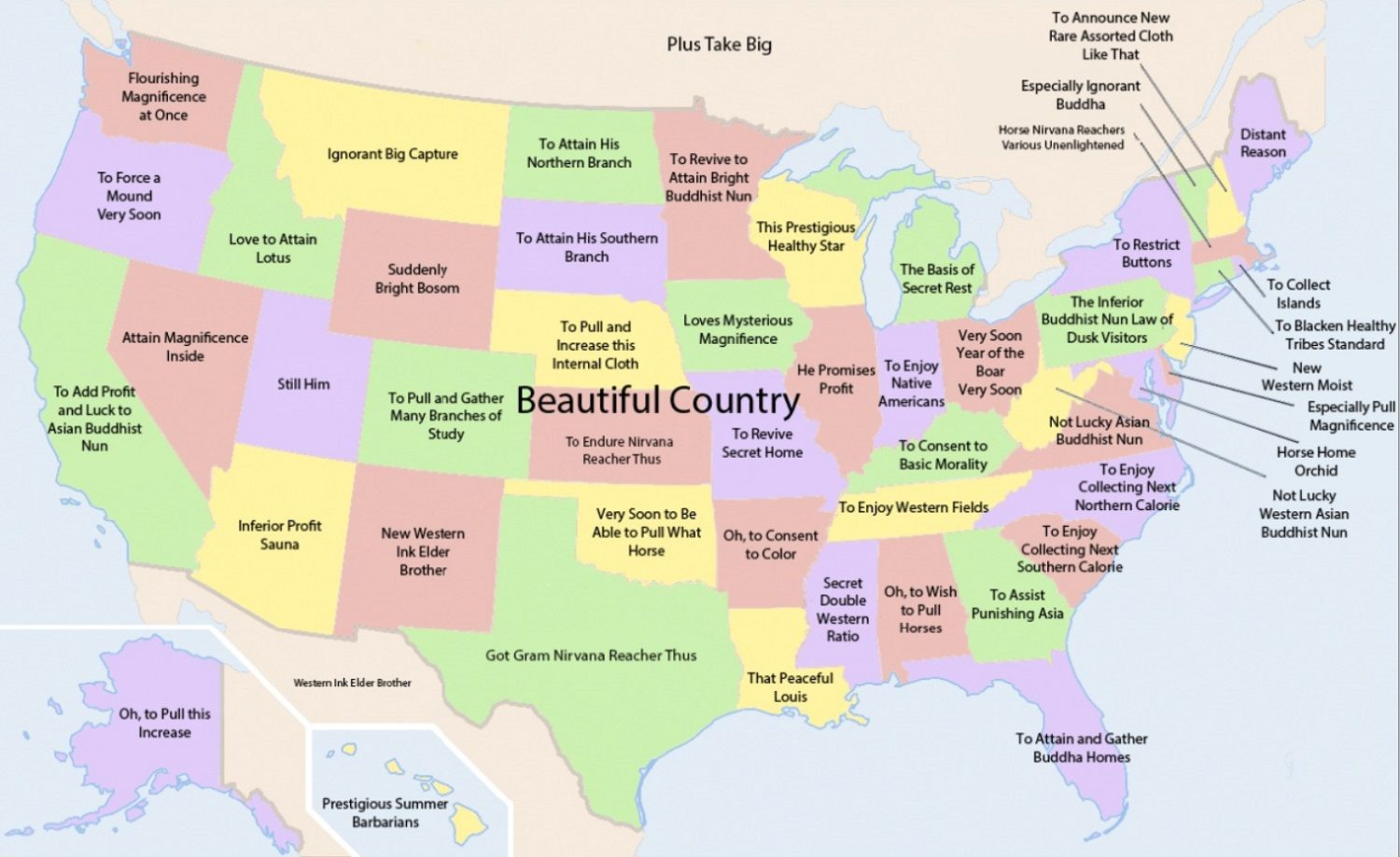 Chinese translation of each US state
