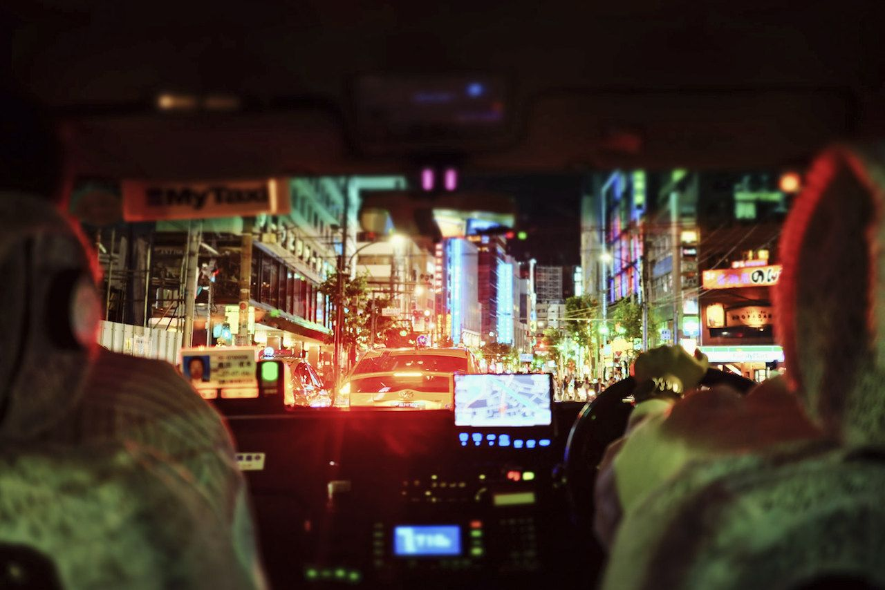 City lights in Japan