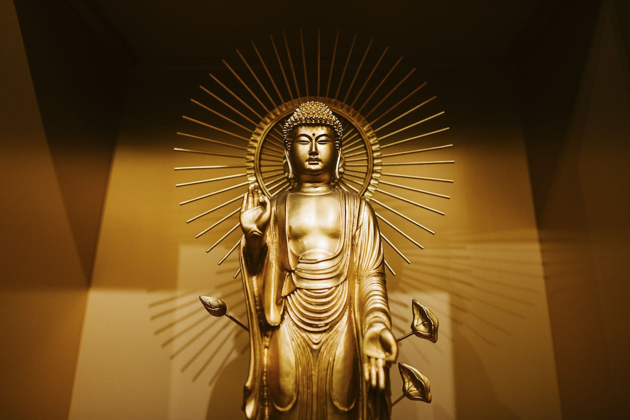 gold statue in Japan