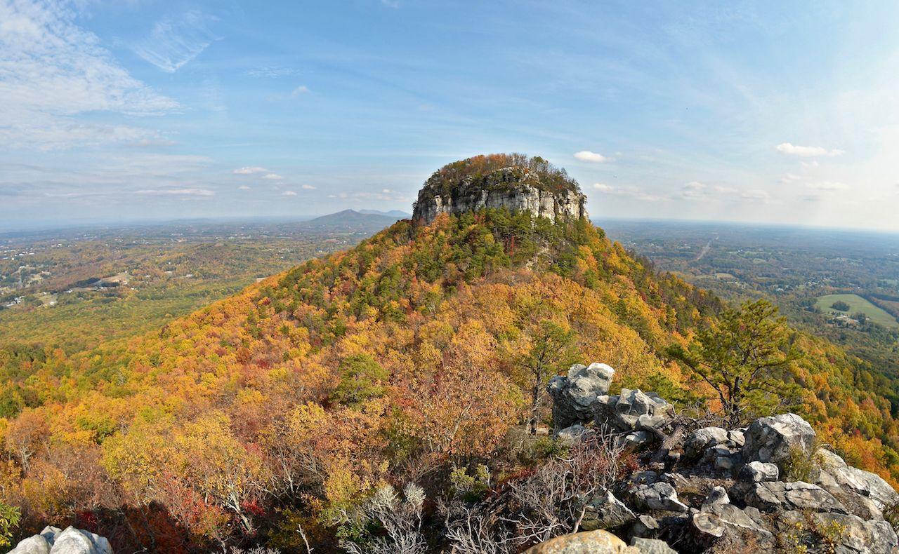 Autumn in Pilot Mountain State Park in North Carolina