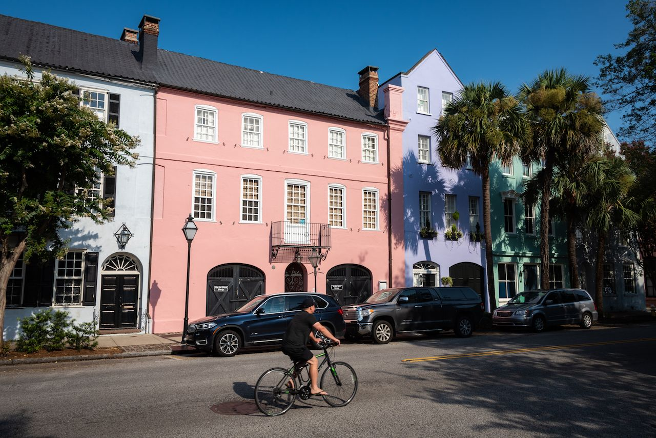 Bike riding through Charleston, South Carolina