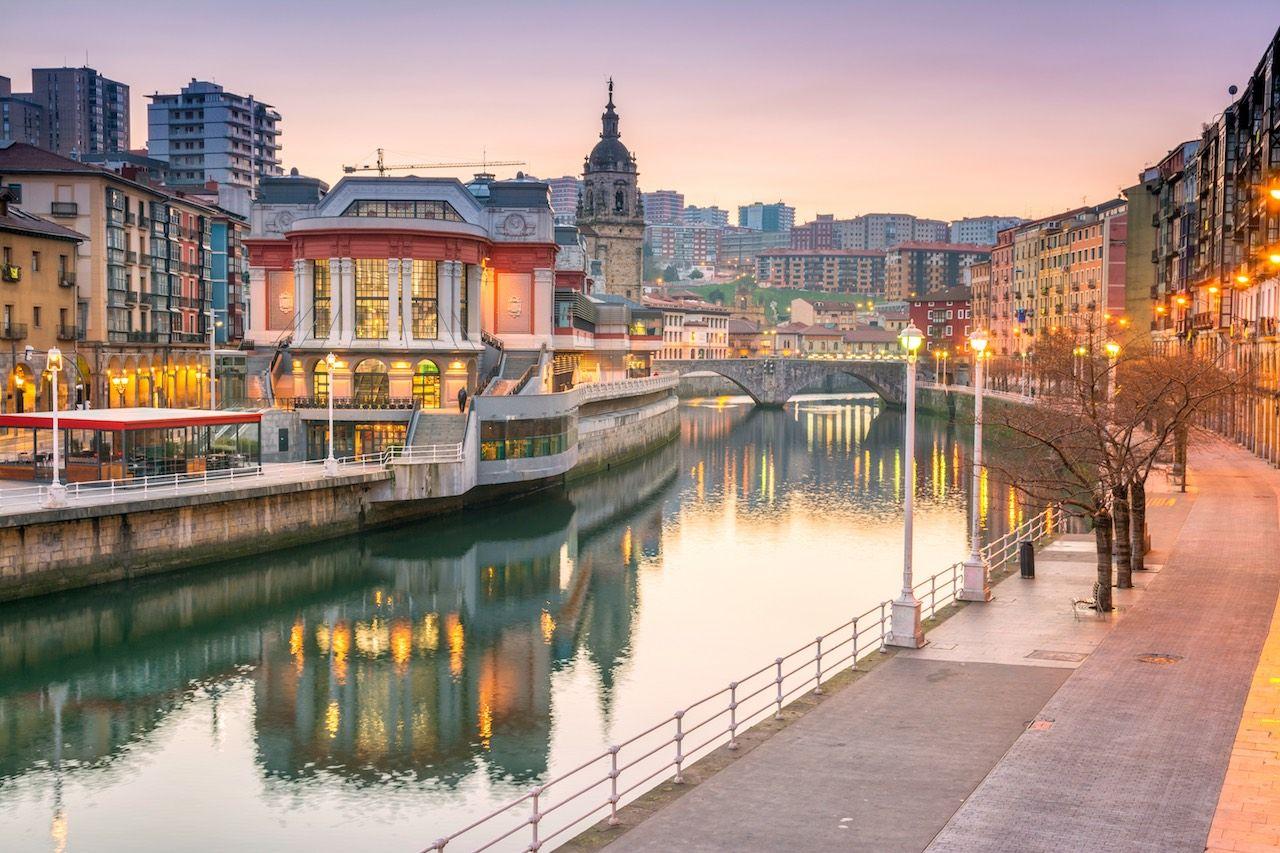 Bilbao Spain sunset