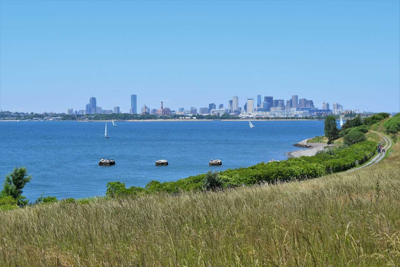 Boston skyline from the Harbor Islands