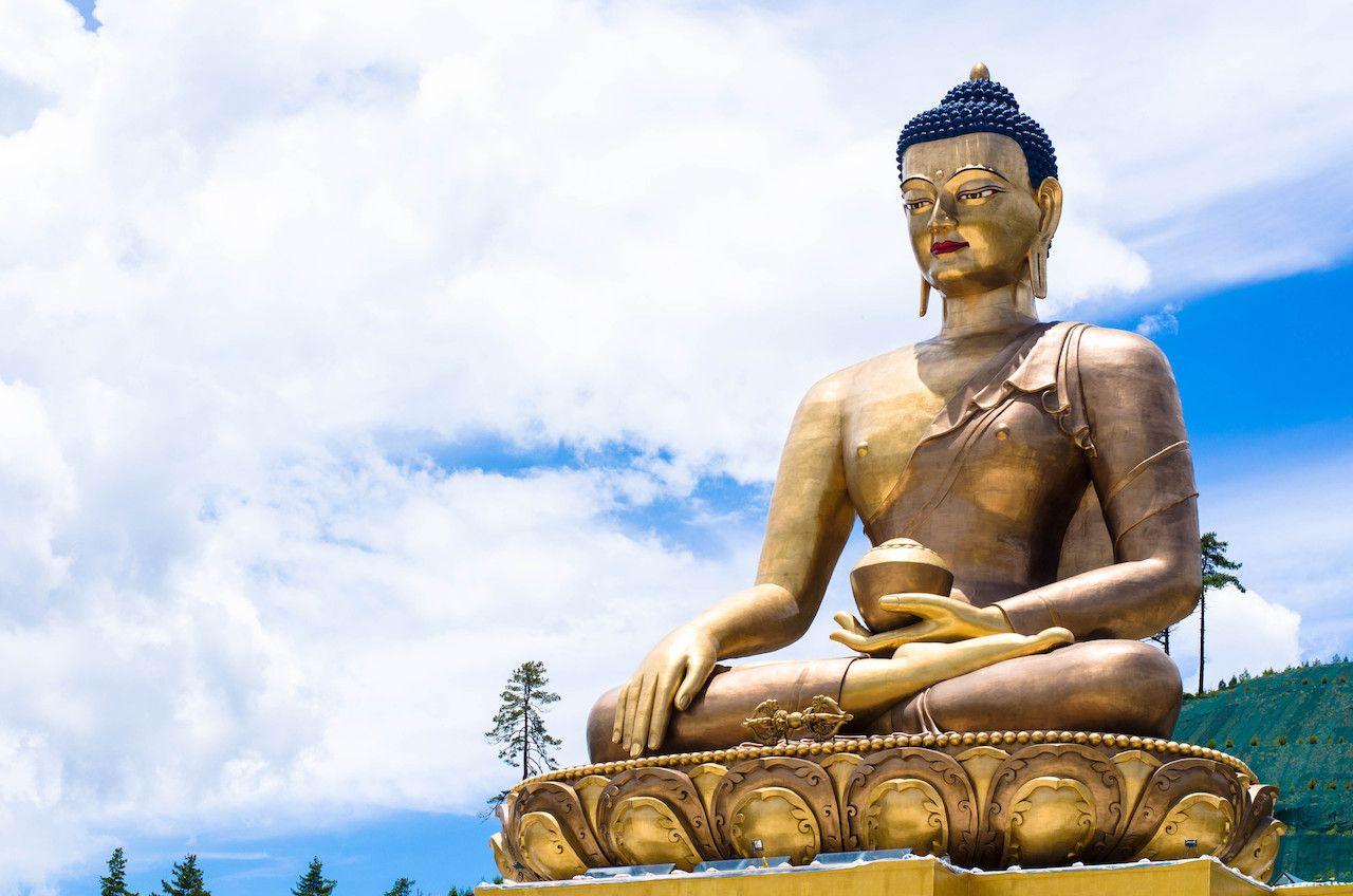 Buddha Dordenma statue overlooking Thimphu City