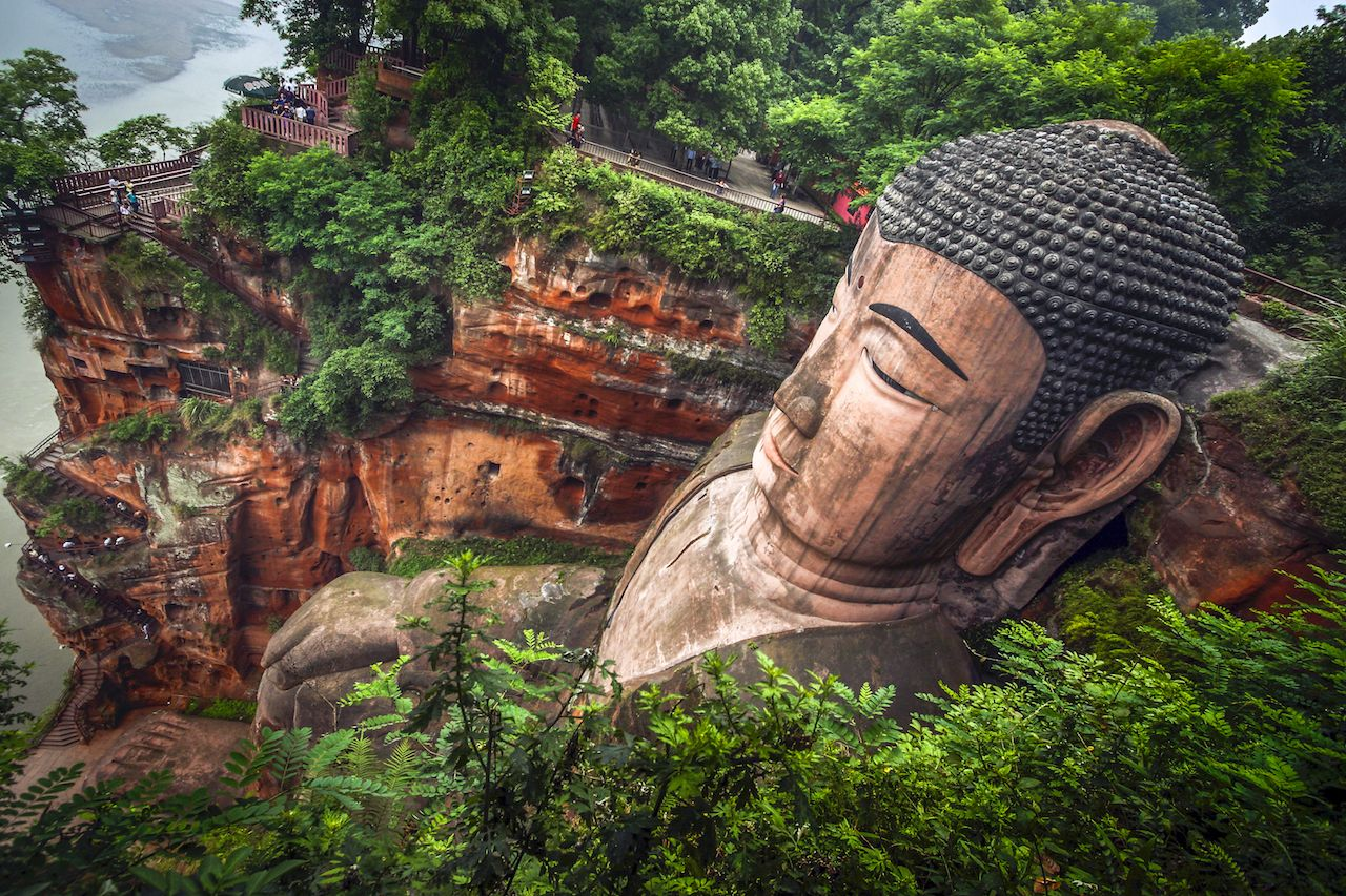 Buddha statue in Leshan, China