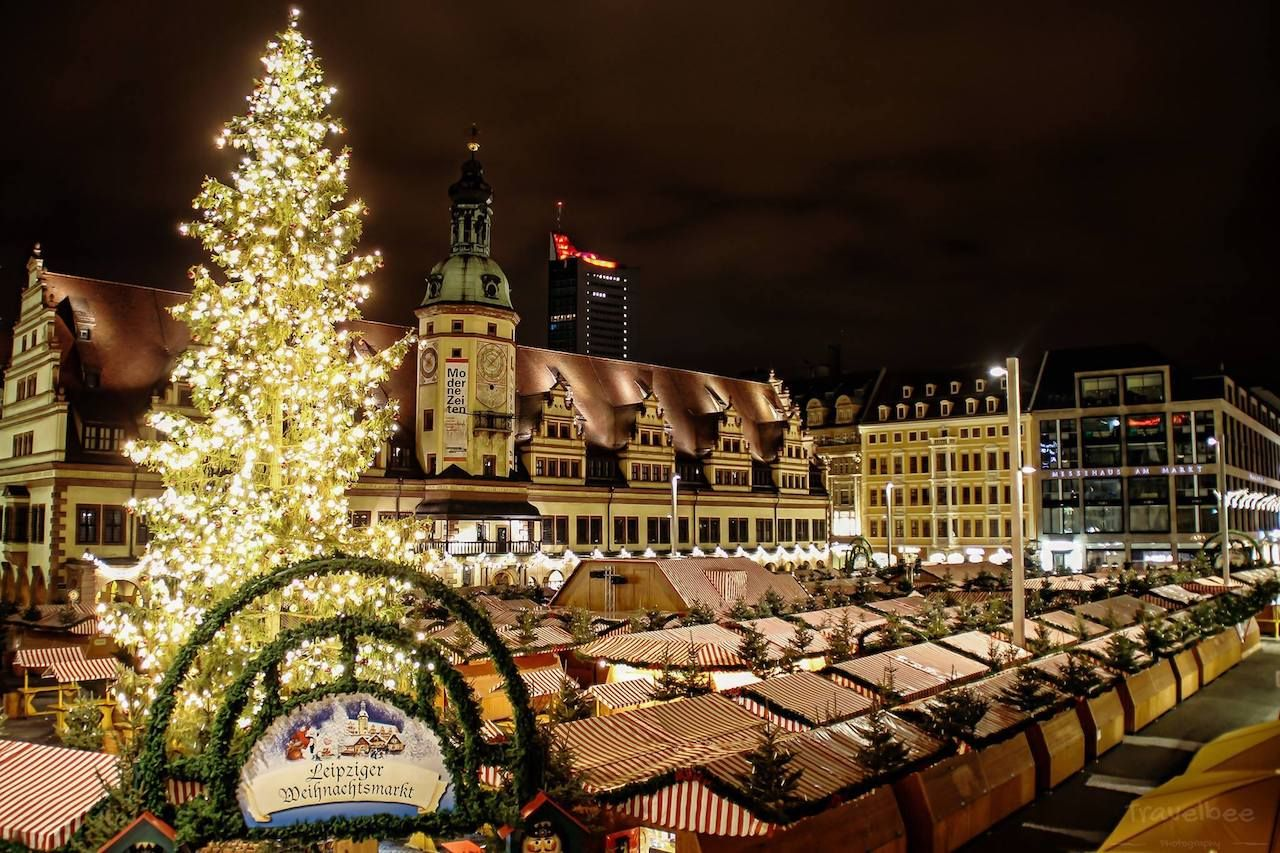 Christmas market in Leipzig, Germany
