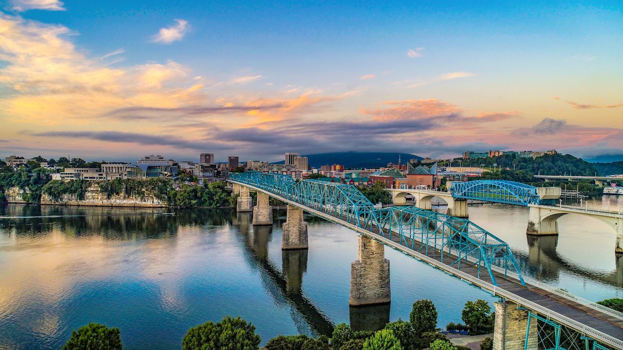Downtown Chattanooga and Tennessee River