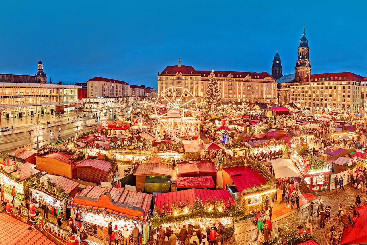 Dresden, Germany during Christmas time