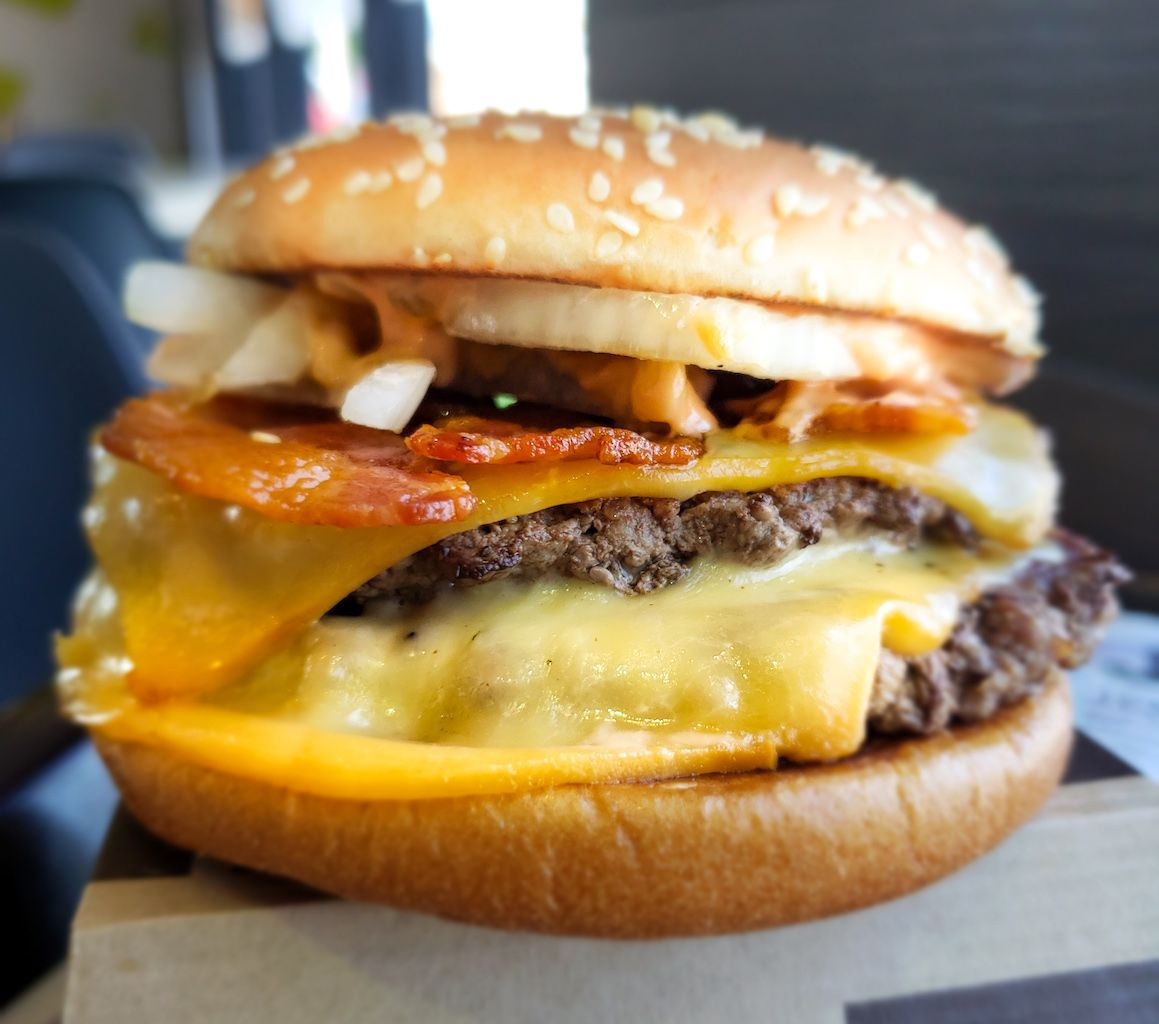 Extreme McBacon burger from McDonald's Spain
