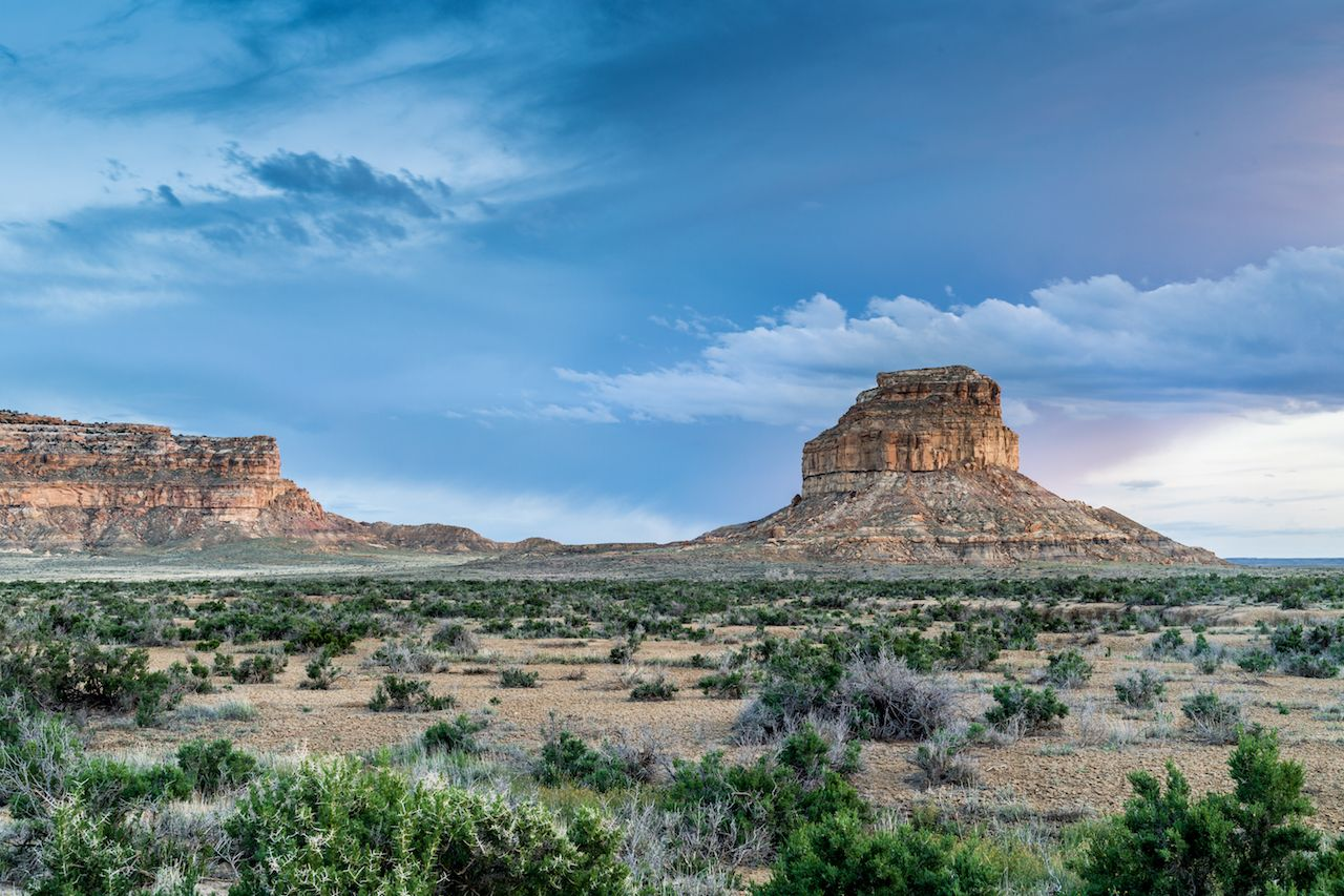 Fajada Butte in Chaco Culture National Historical Park, New Mexico