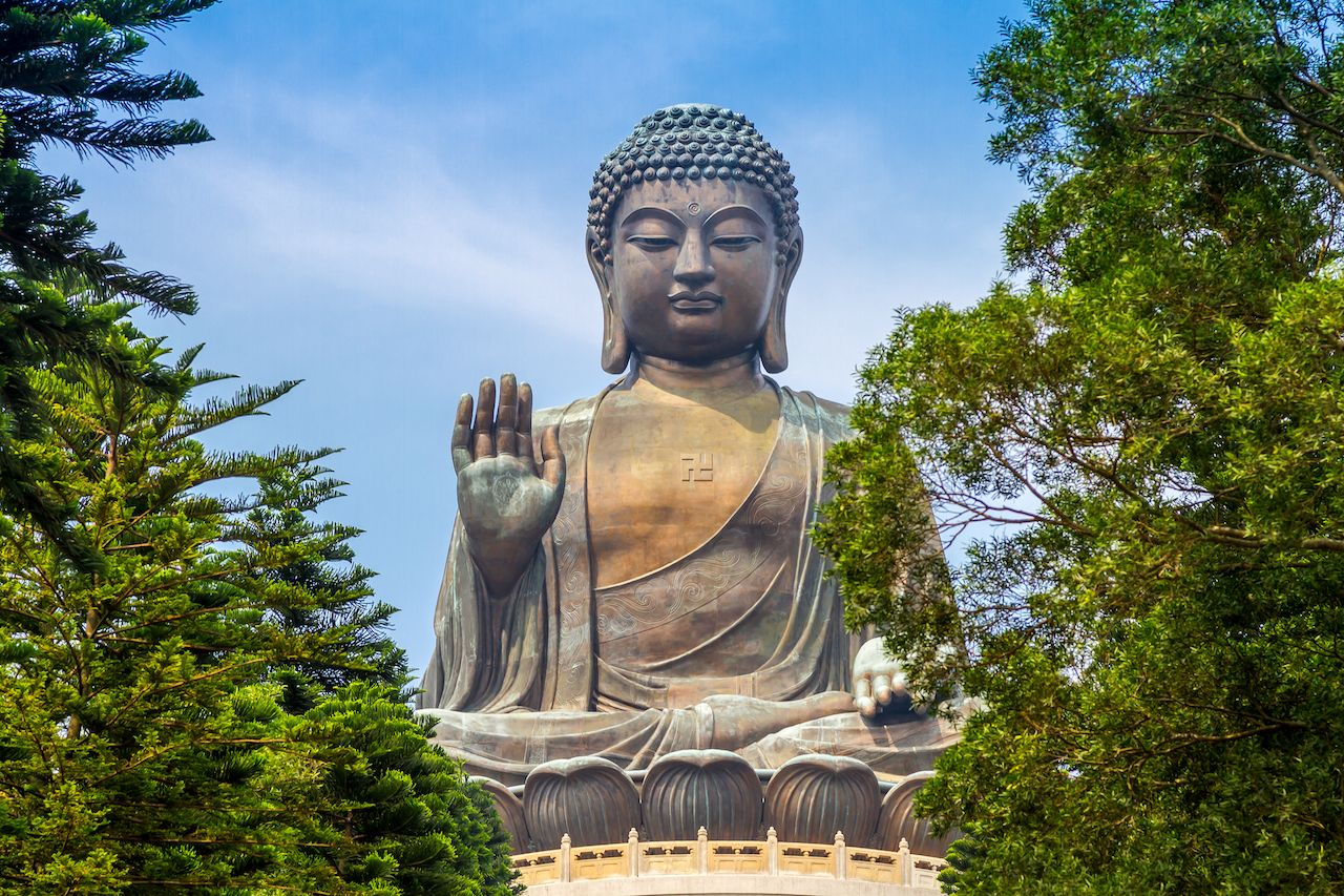 Giant Buddha Statue in Hong Kong, China