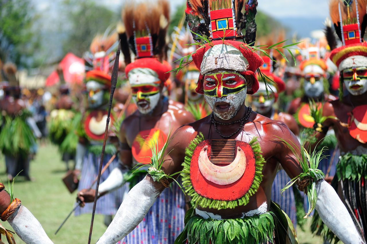 Goroka tribal festival in Papua New Guinea