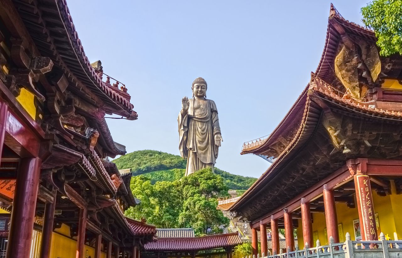 Grand Buddha statue at Ling Shan in China
