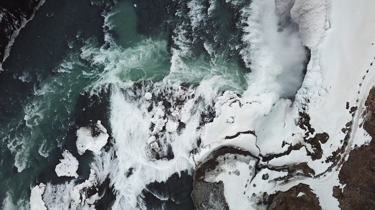 Iceland landscape shot from Matador Originals film