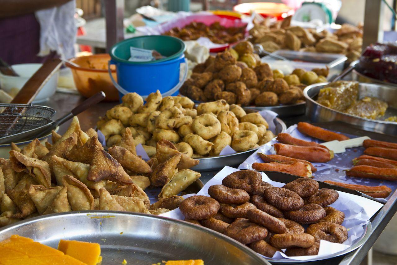 Indian street food in Penang, Malaysia
