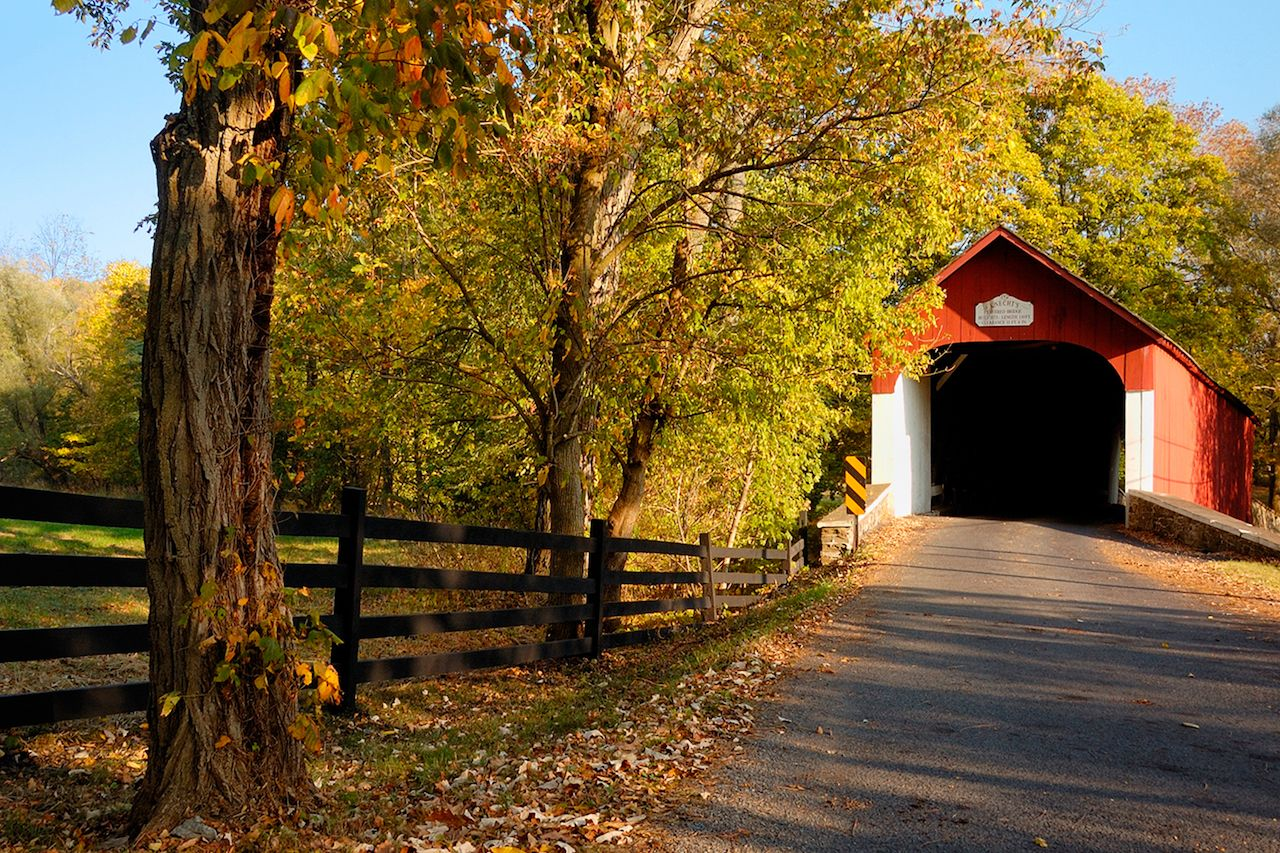 Knechts Covered Bridge, Bucks County, Pennysylvania
