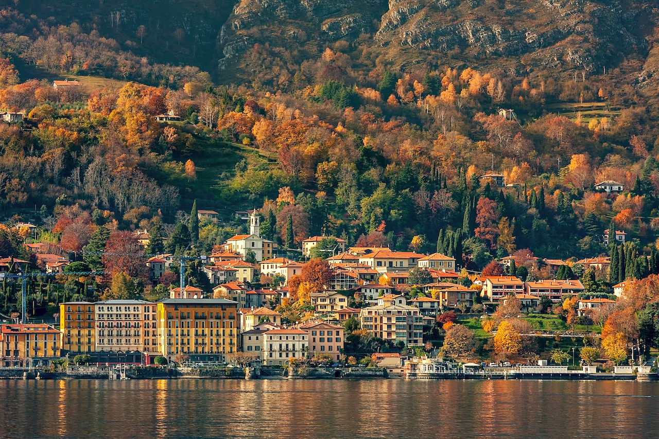 Lake Como, Italy, in fall