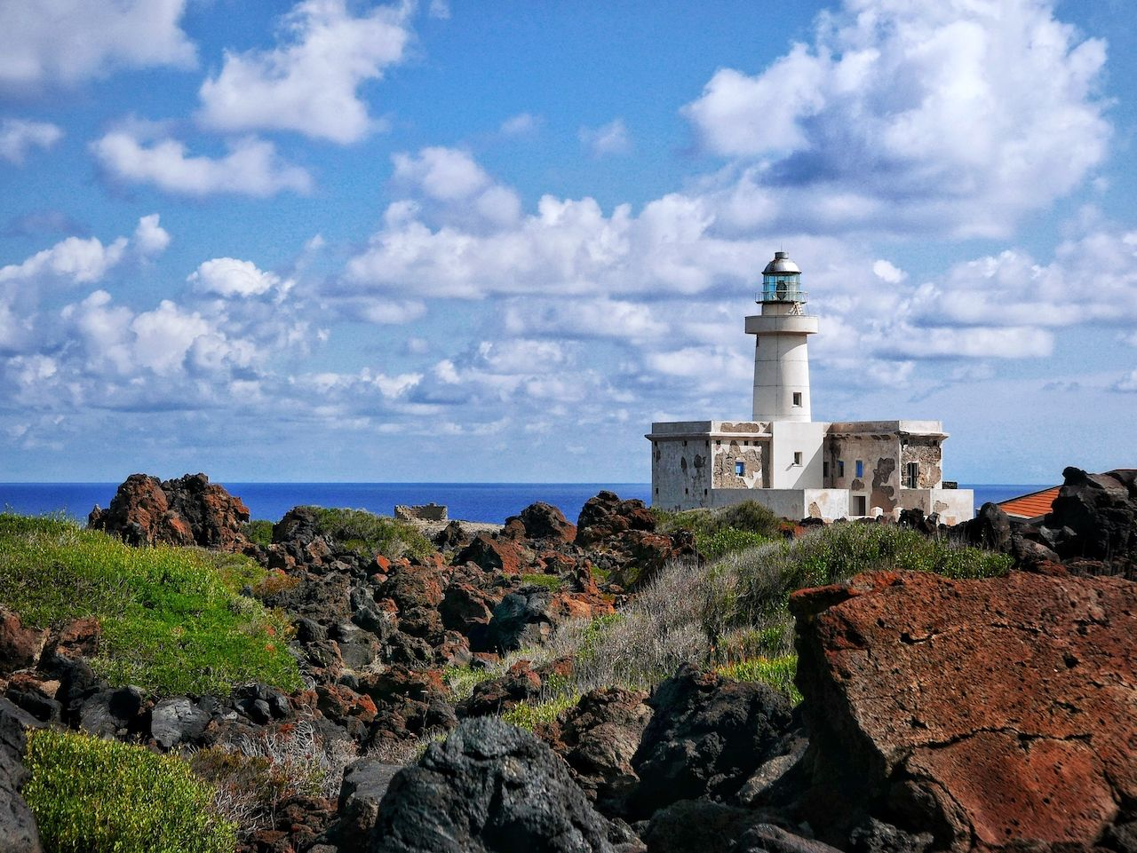 Lighthouse on Pantelleria's Island, Italy