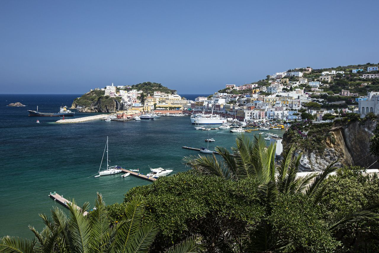 Main Port of Ponza, Italy