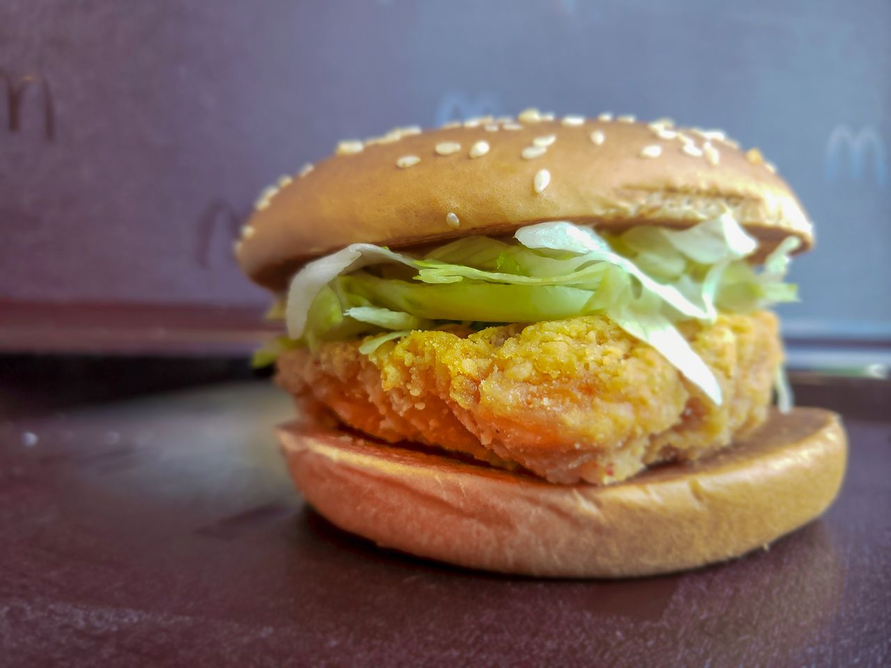 McSpicy Chicken sandwich from Hong Kong