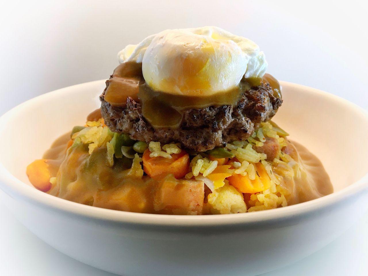 Moco Loco Spam burger from Hawaii