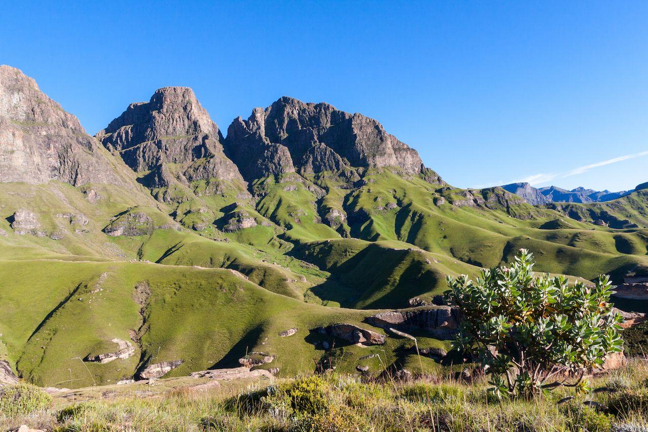 Mountain landscape in Lesotho