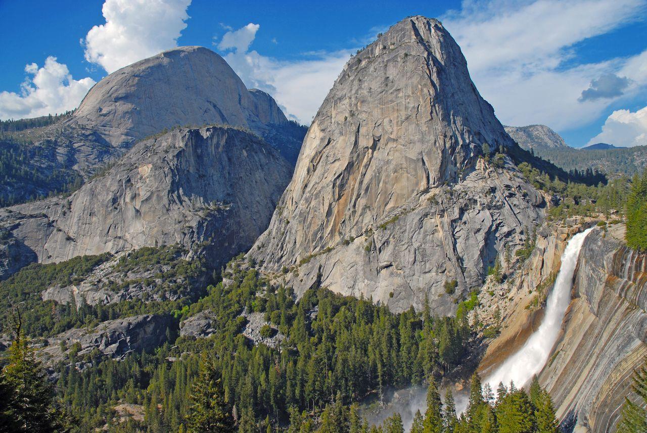 Nevada Falls along John Muir Trail, Yosemite National Park, California