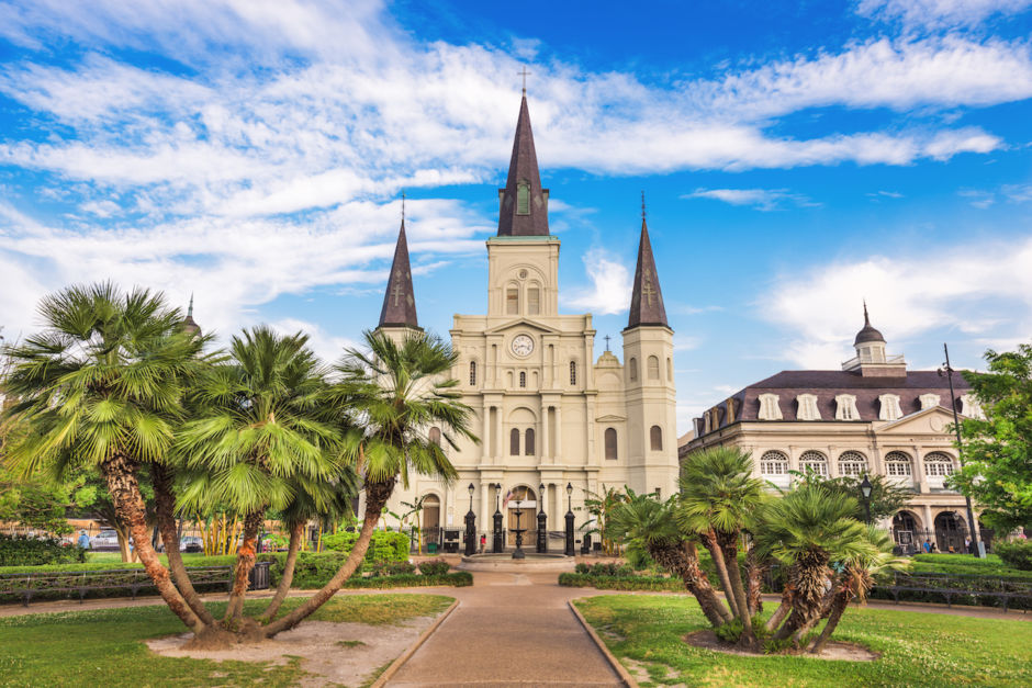 New Orleans, Louisiana, Jackson Square and St. Louis Cathedral